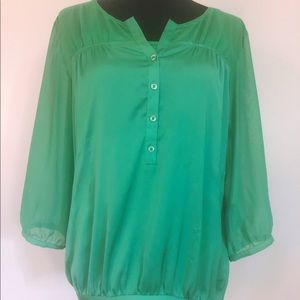 Sheer Sleeved Top and Camisole